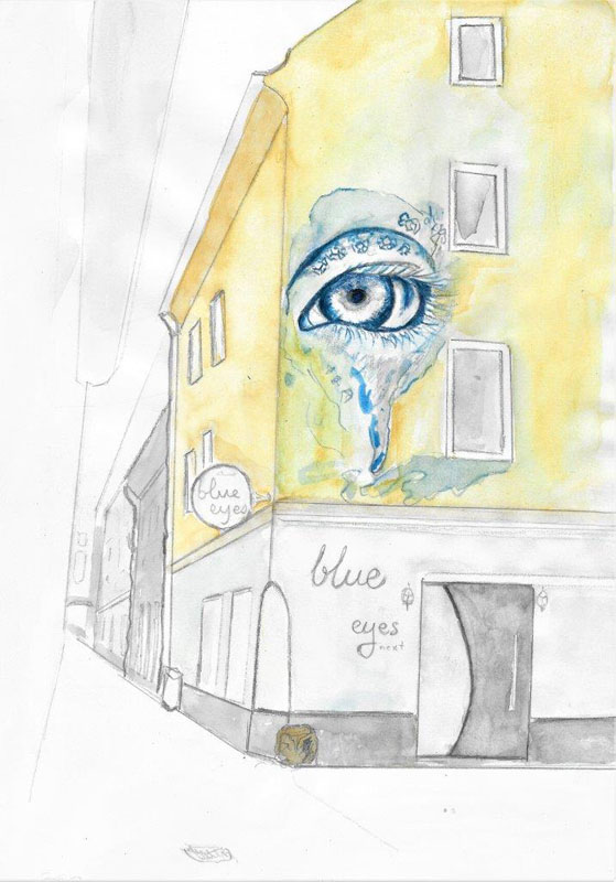 Blue Eye, Urban Sketching, Marc Managau